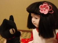 市松さんと黒猫