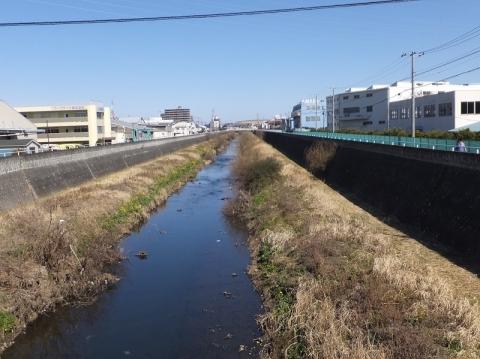 河原橋より目久尻川上流を望む