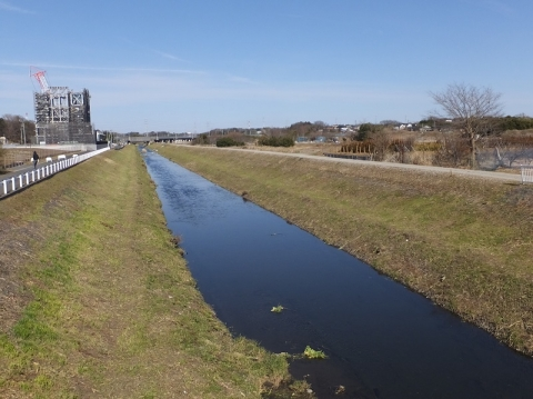 戸中橋より目久尻川上流を望む