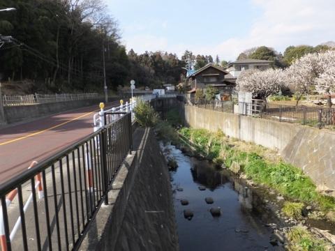 前田橋より目久尻川上流を望む