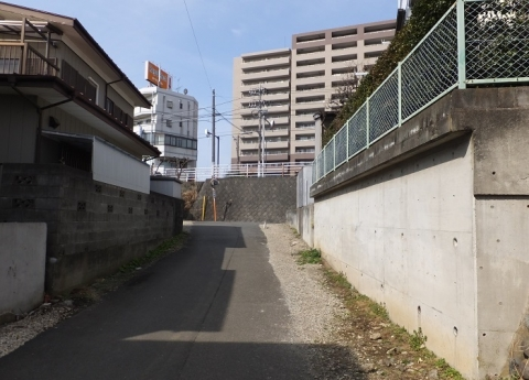 目久尻川源流・行幸道路付近