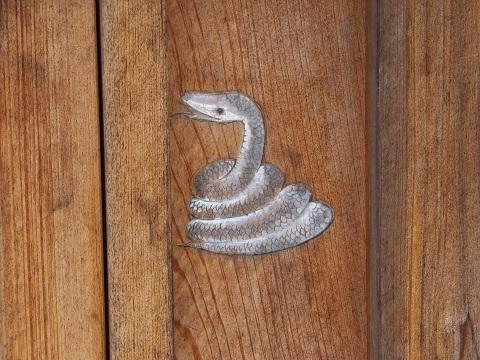 白髪弁財天社・蛇の絵