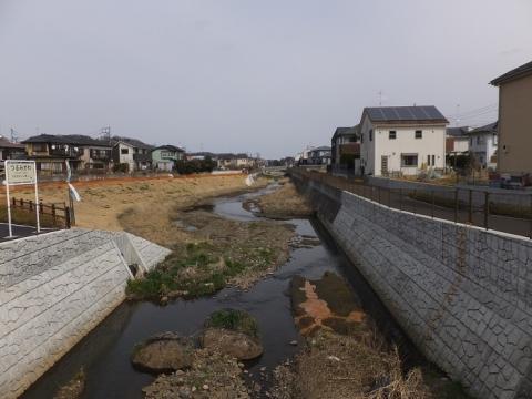宮川橋より鶴見川下流を望む
