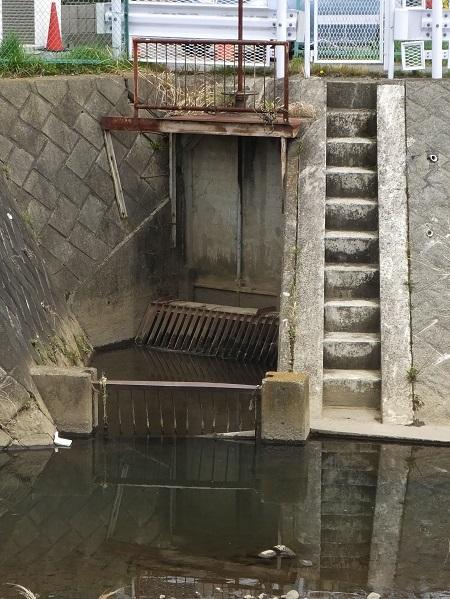 荻野川・妻田用水取水口