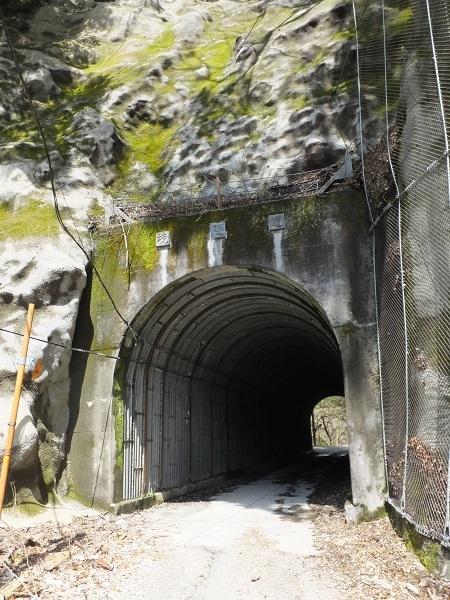 玄倉川沿い林道・境隧道
