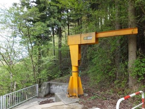 道志第二発電所管理道路