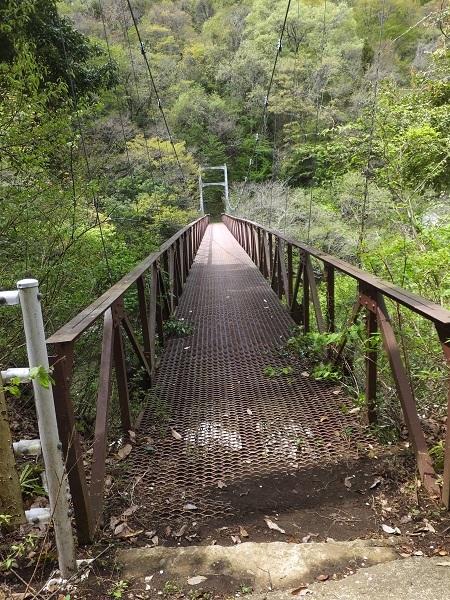 道志第二発電所管理橋・吊り橋