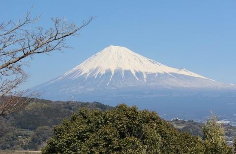 東名高速富士川SAより富士山を望む