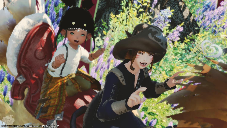 シャケケと遊園地に行ったよ!…という設定の写真たち。笑【FF14】