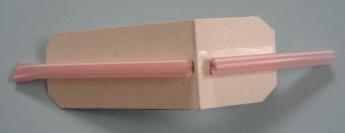 ストローの笛(牛乳パック利用型) 作り方9