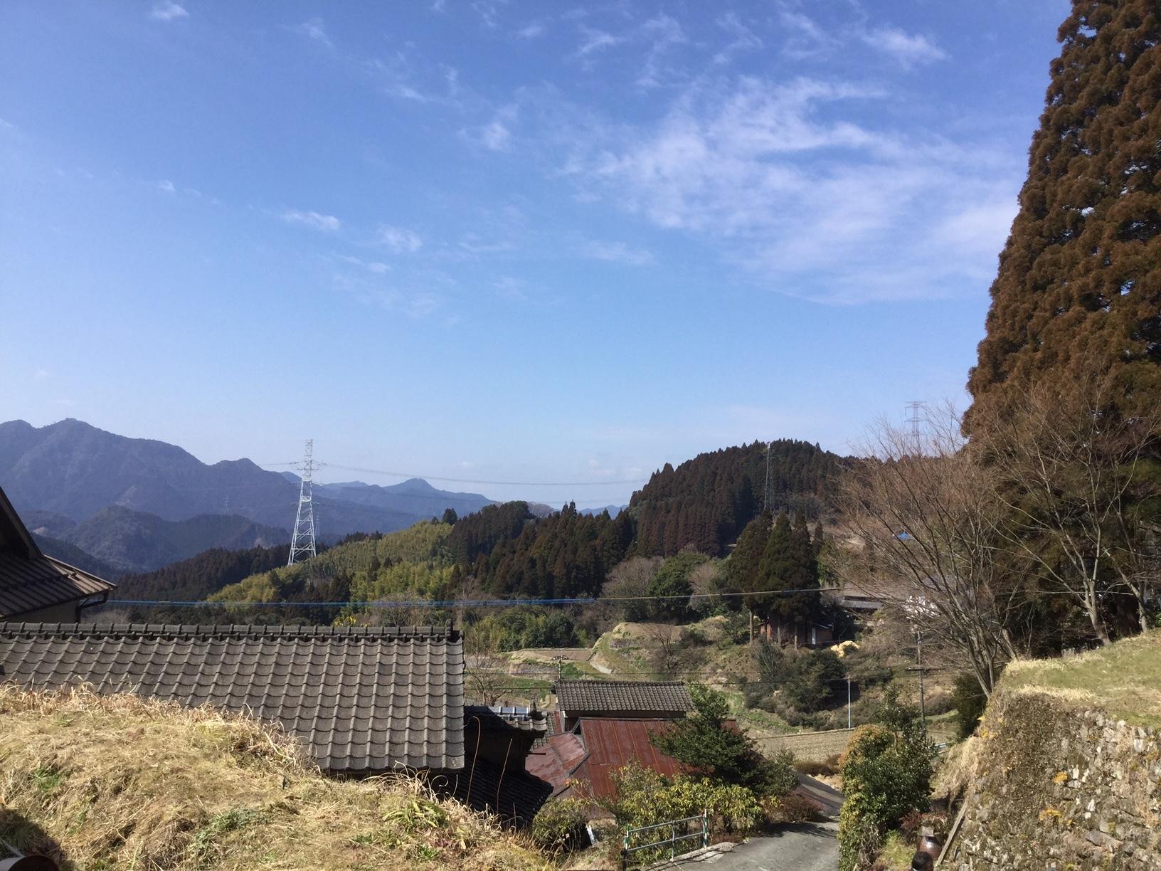2017年3月4日 八女市矢部村のハウス近くの風景