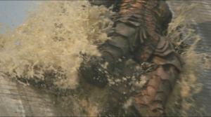 対メガロ ダム決壊で押し流されるメガロ