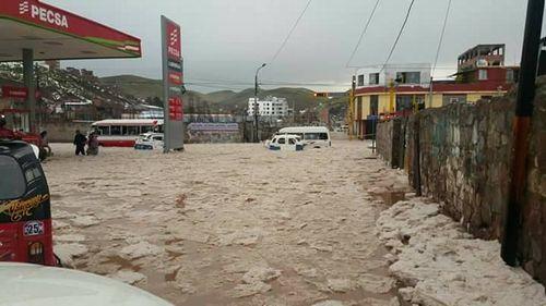 ペルーの雹嵐1