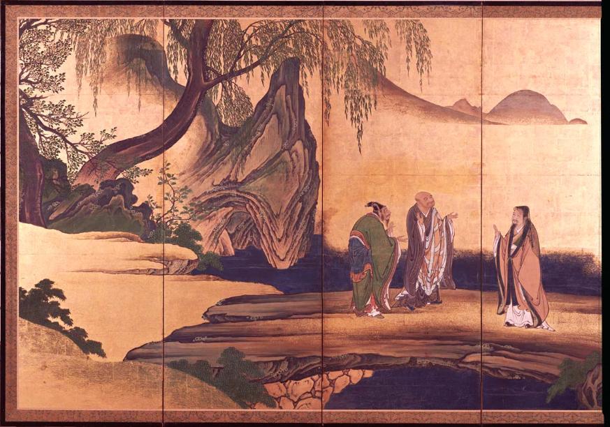 a 「虎渓三笑」 a 狩野山楽 桃山時代