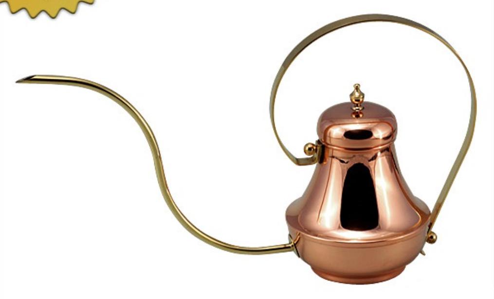 zc 銅製 長首コーヒーポット 細口 業務用プロ アラジンコーヒーサーバー 24000en