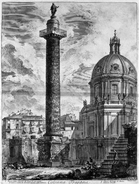 zzd ローマ/トラヤヌス帝の記念柱。ピラネージ作