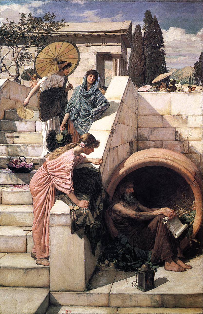 zzd シノペのディオゲネス ジョン・ウィリアム・ウォーターハウス作「ディオゲネス」
