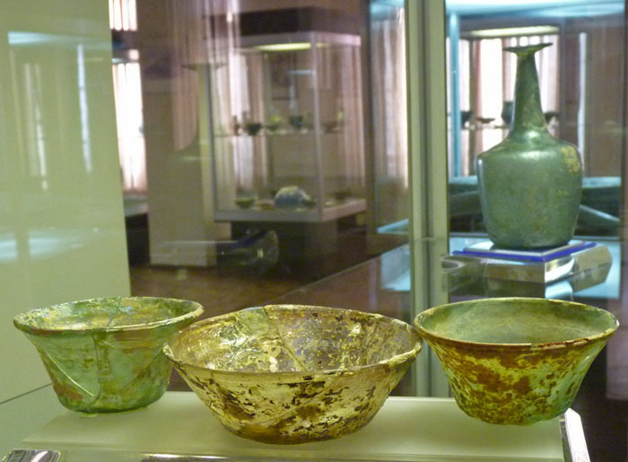 zzz 銀化ガラスa アゼルバイジャン博物館 サーサーン朝時代