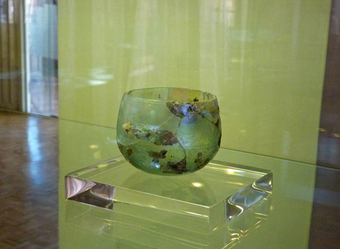 zzz 銀化ガラスf アゼルバイジャン博物館 サーサーン朝時代