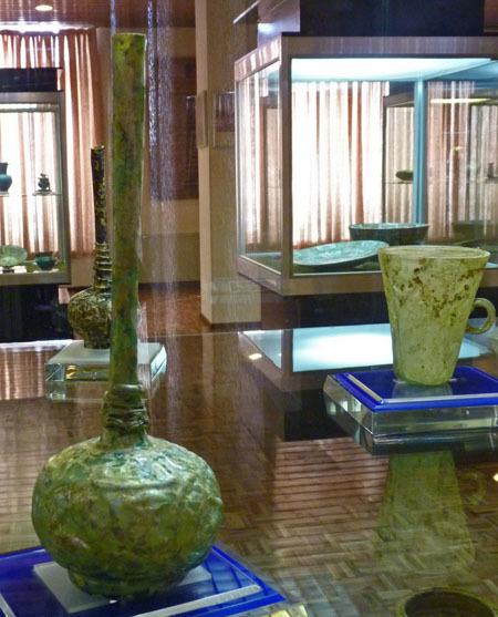 zzz 銀化ガラス アゼルバイジャン博物館 サーサーン朝時代