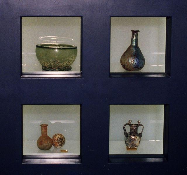 zzz 銀化ガラス イランのアーブギーネ博物館 サーサーン朝時代