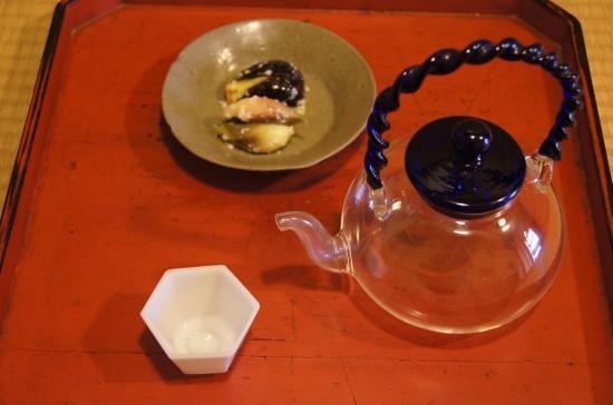 x 酒の肴 茄子と茗荷の塩麹漬け