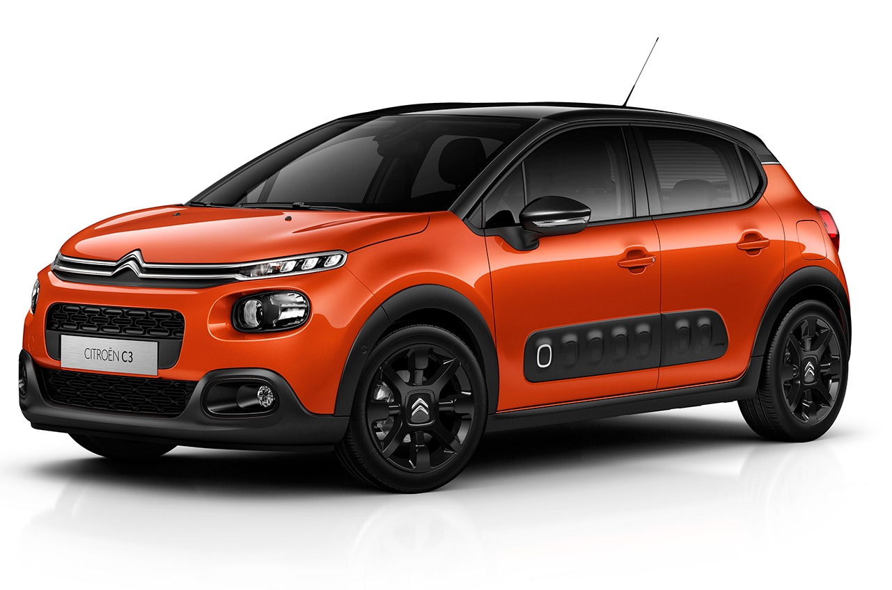Citroen C3 2017 teinte Orange Power front