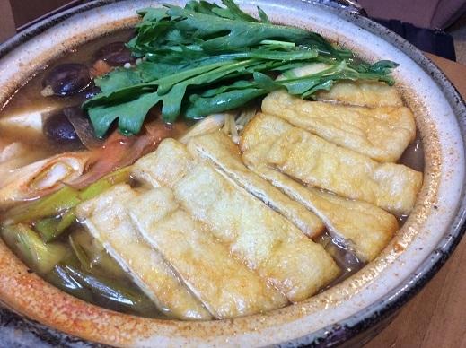 油揚げキムチ鍋