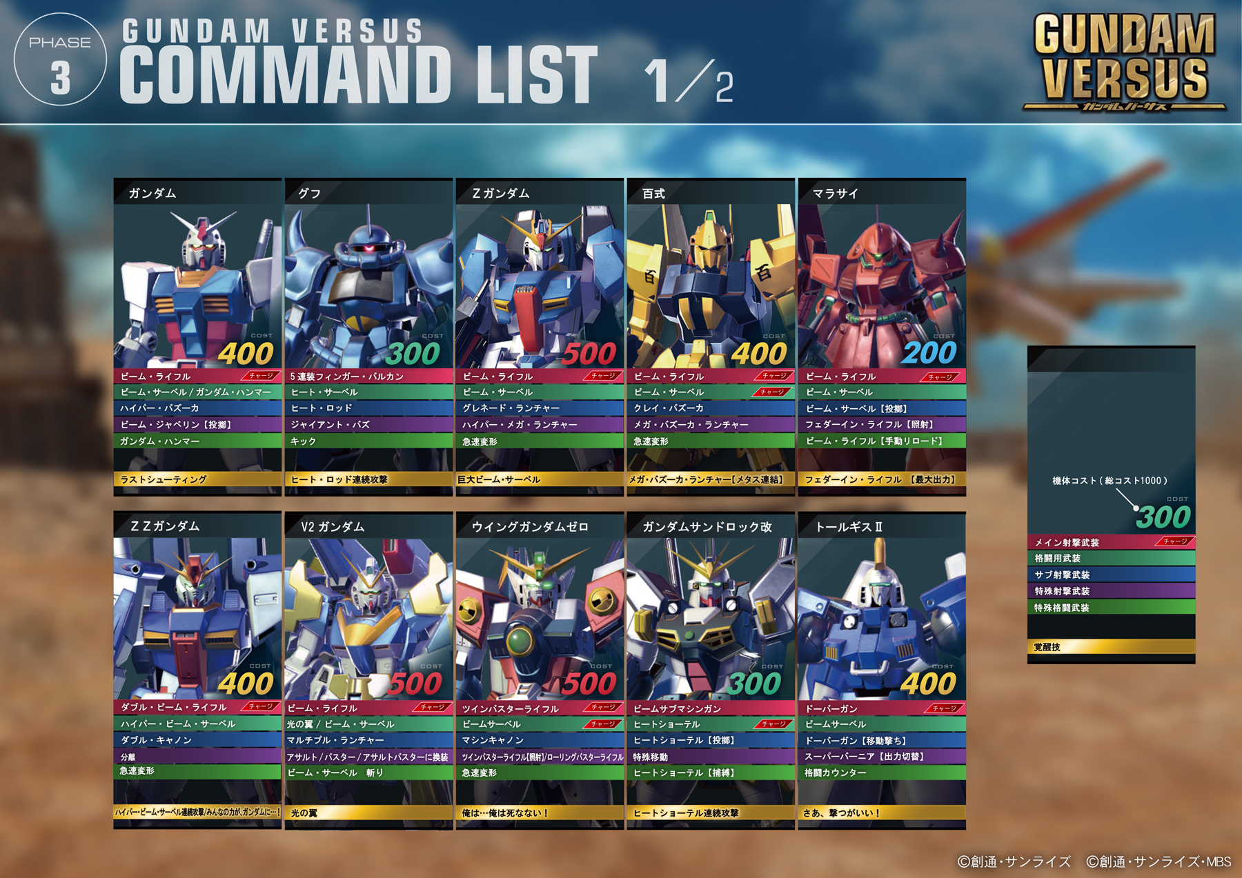 PS4VSβ機体リスト_5