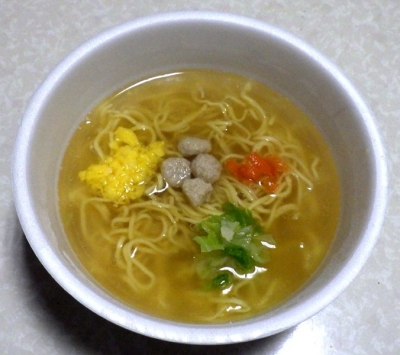 3/20発売 麺ごこち 糖質50%オフ 芳醇鶏だし塩ラーメン(できあがり)