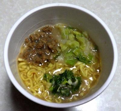 2/27発売 麺屋彩未×田中商店 濃厚味噌豚骨(できあがり)