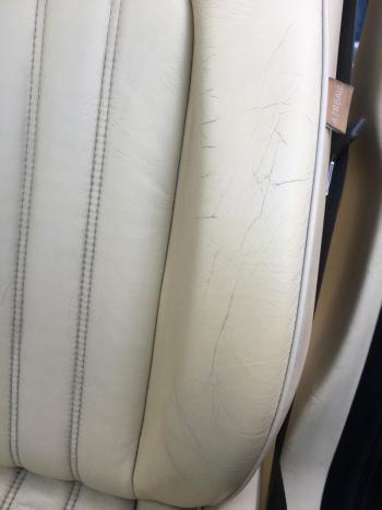 レザーシート 劣化ひび割れ補修 マセラティ クアトロポルテ