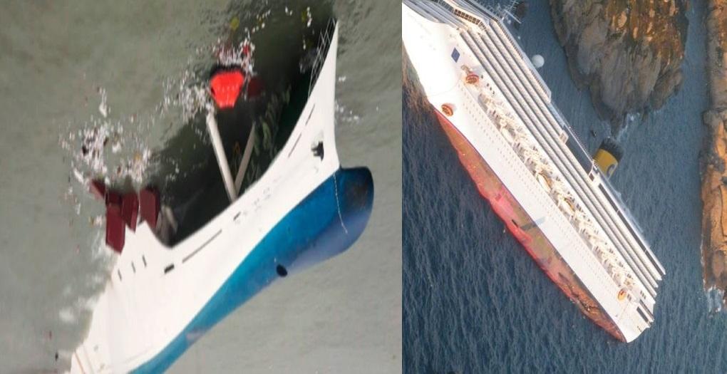923Naufragio della Costa Concordiaハ選定の色は青と赤・南北を表現したのかねハ