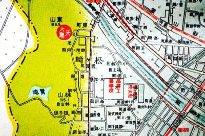 松ヶ崎付近図