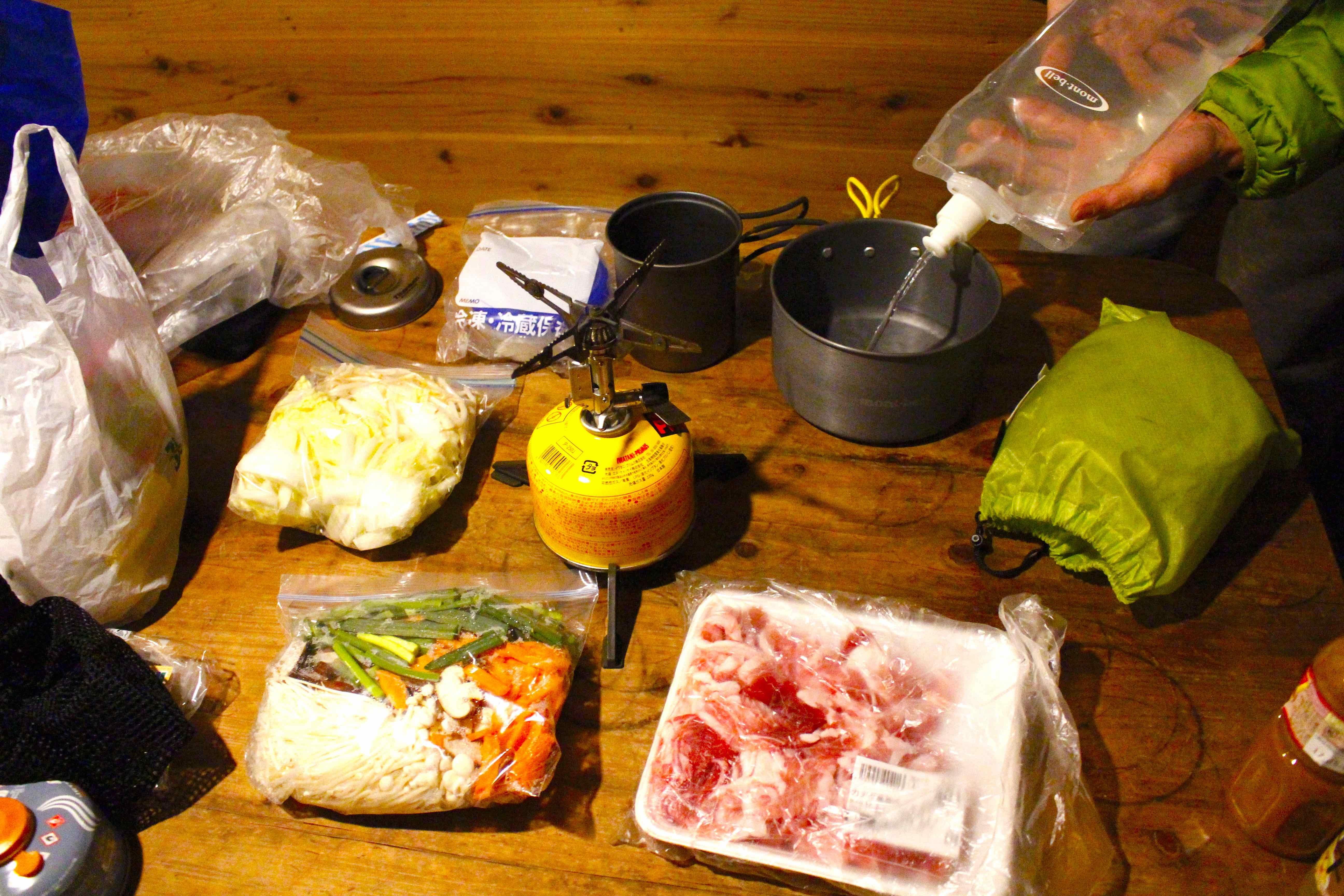 20170302夕食の鍋の準備