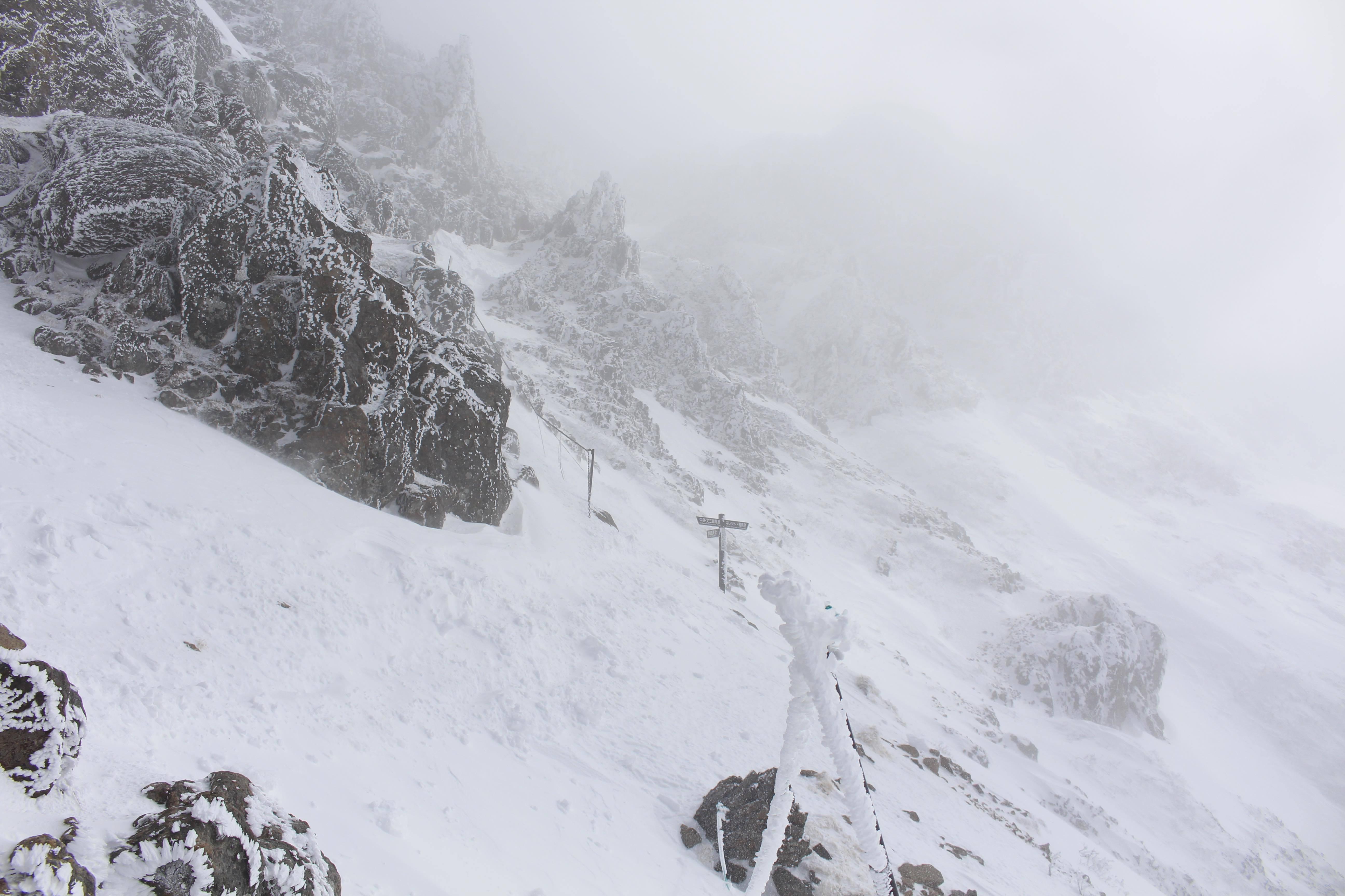 20170303赤岳山頂分岐