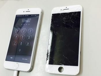 iPhone7ガラス割れ液晶不良修理後3/19