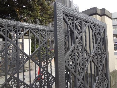 庭園美術館門