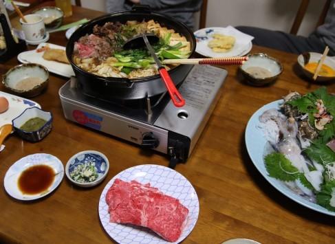 壱岐牛すき焼き1