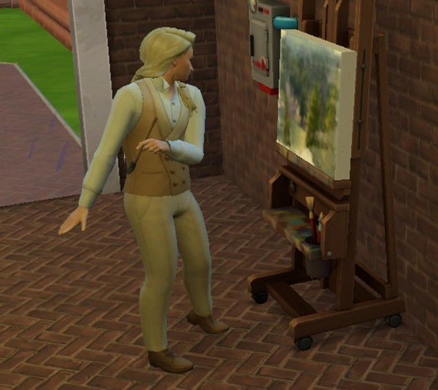 絵画販売が収入源です