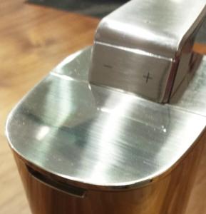 simplehuman(シンプルヒューマン) センサーソープディスペンサー 222ml ブラッシュドニッケル ST1036 +-スイッチ画像