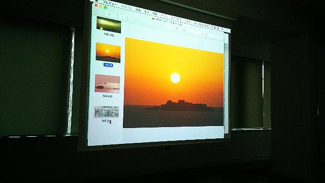 軍艦島の太陽