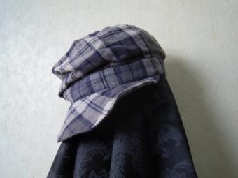 ダブルガーゼで帽子170307