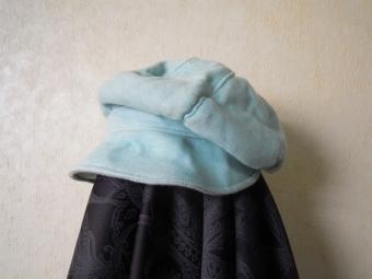 綿混ニットでゆったり帽子170307
