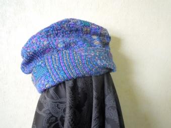 ジャガードニットで簡単帽子170307