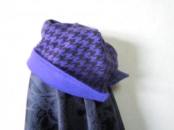 紫ウール千鳥とニットで170307