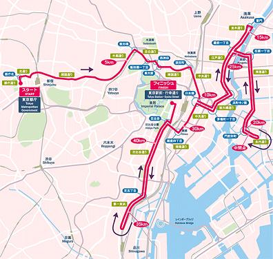東京マラソンコース全体2