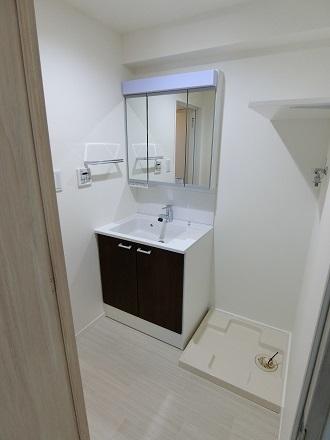 北綾瀬405洗面台洗濯機置き場