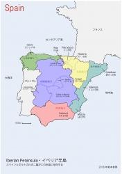 スペイン全土白地図⑦