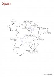 スペイン全土白地図⑧
